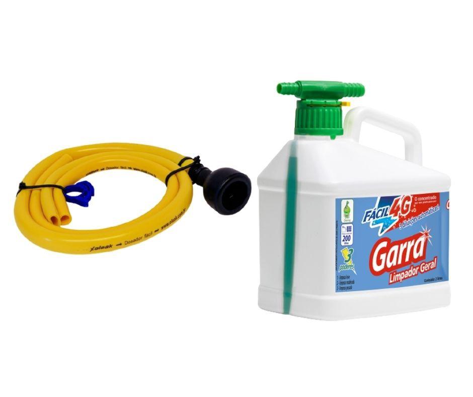 Limpador Multiuso Limpeza Geral Garra 2lt com mangueira para diluição