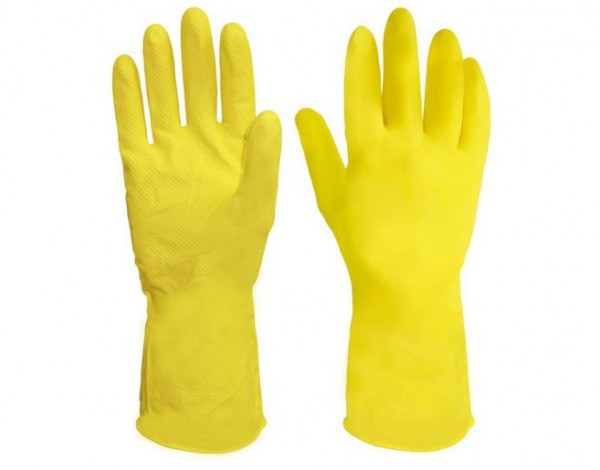Luva de Limpeza Amarela P