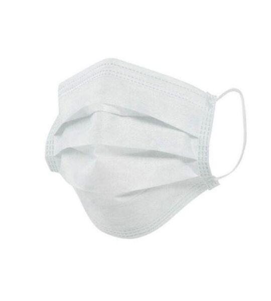 Máscara Tripla Com Elástico - 50 un