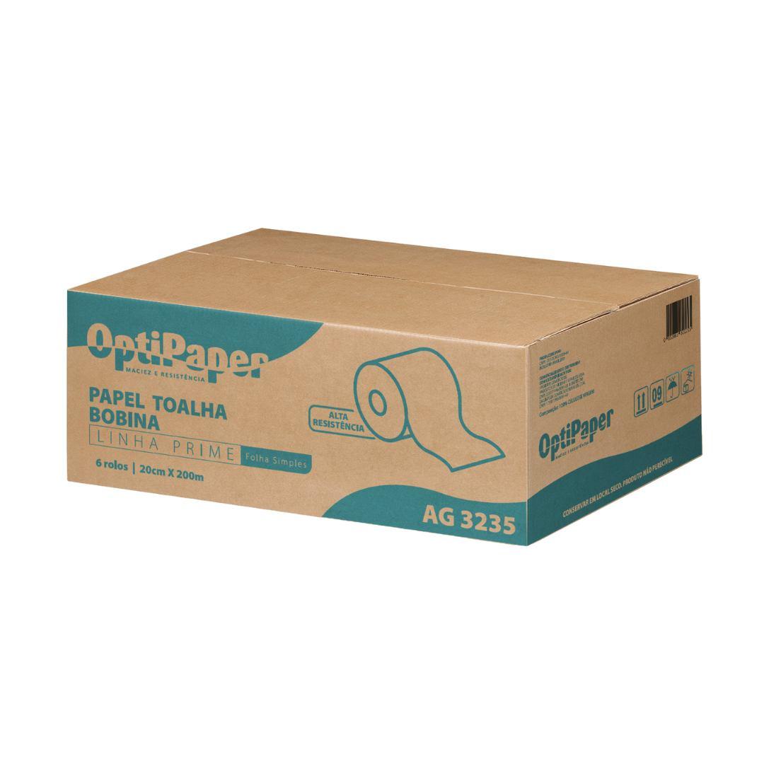 Papel Toalha Rolo Extra Luxo 100% Celulose Virgem Alta Gramatura 32 Gramas - Caixa 6 Rolos de 200 Metros