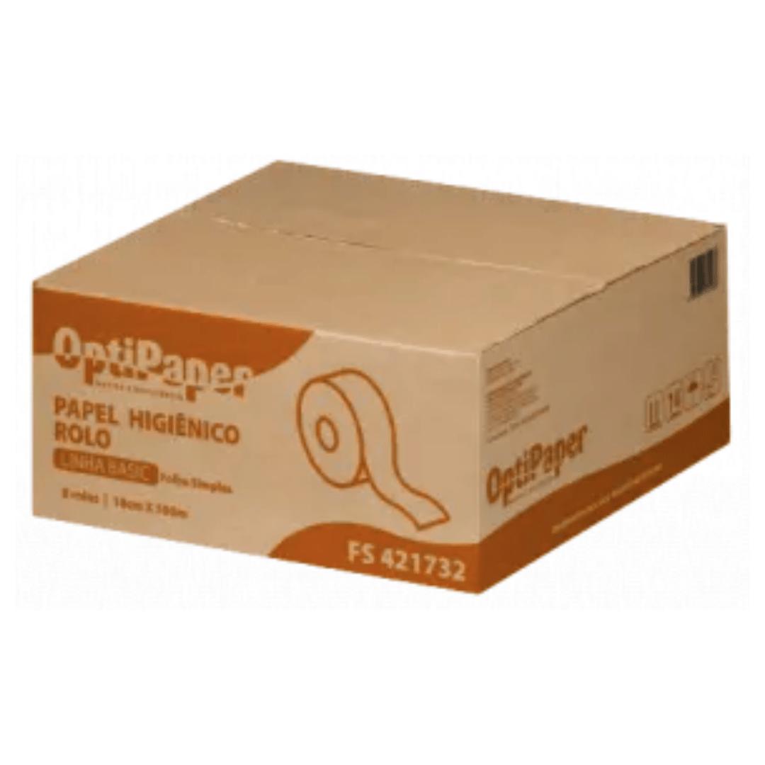 Papel Higiênico Rolão - Extra Luxo - 100% Celulose – 4000 Metros - Caixa 8 rolos c/ 500 Mts por 10 cm