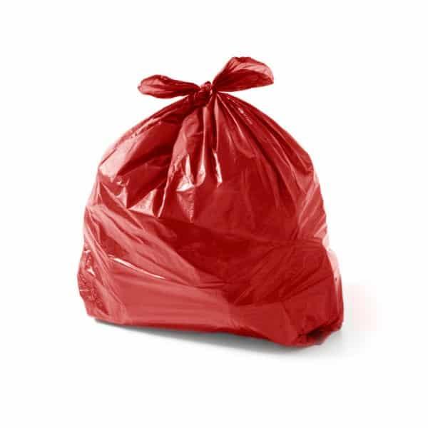 Saco de lixo 20 litros vermelho 4 Micras 50 Unidades
