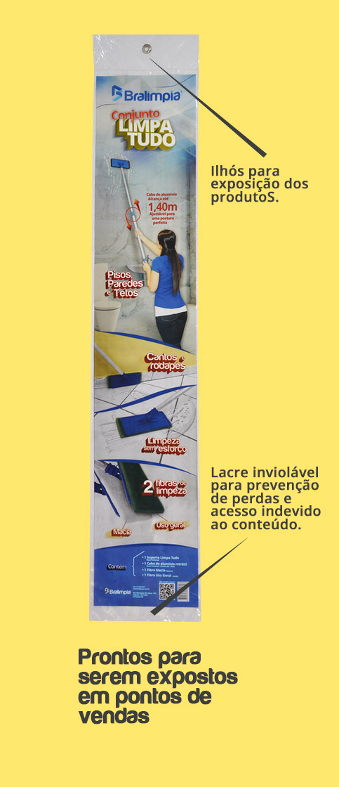 Suporte Limpa Tudo - Suporte LT + Cabo + 2x Fibras