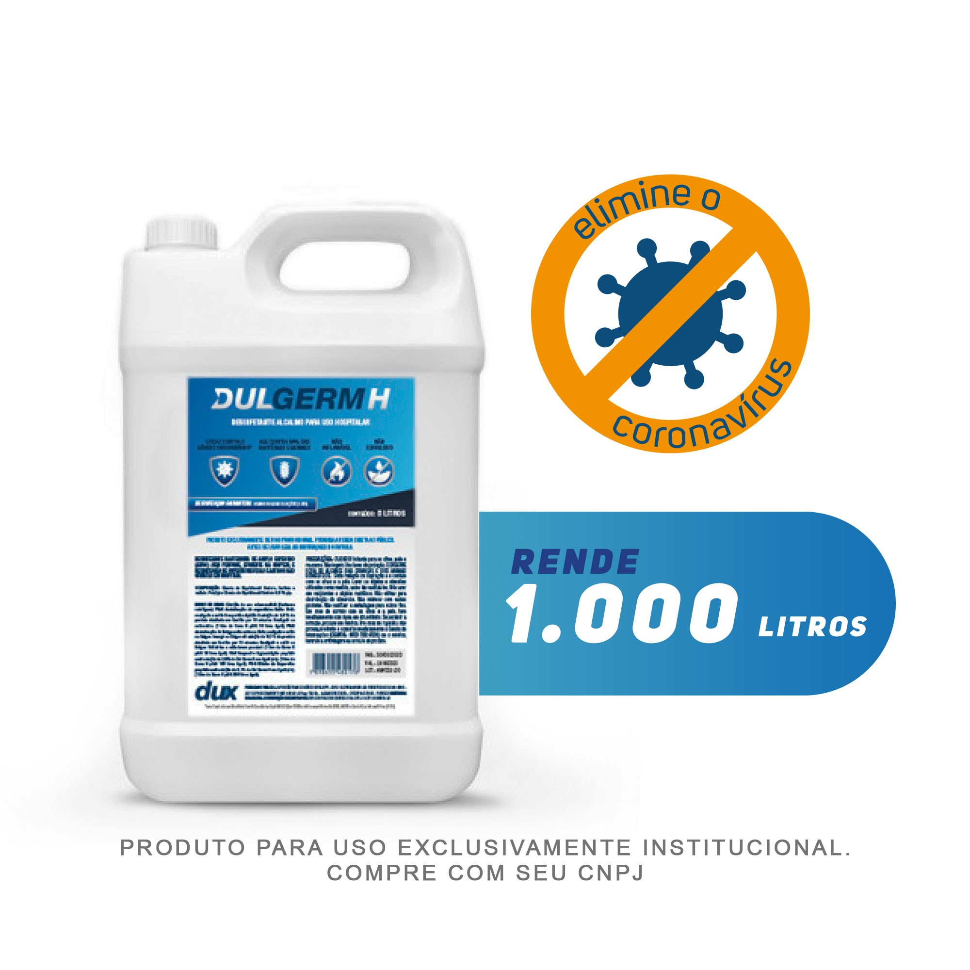 DulGerm H - Desinfetante Profissional Super Concentrado - 5 Litros