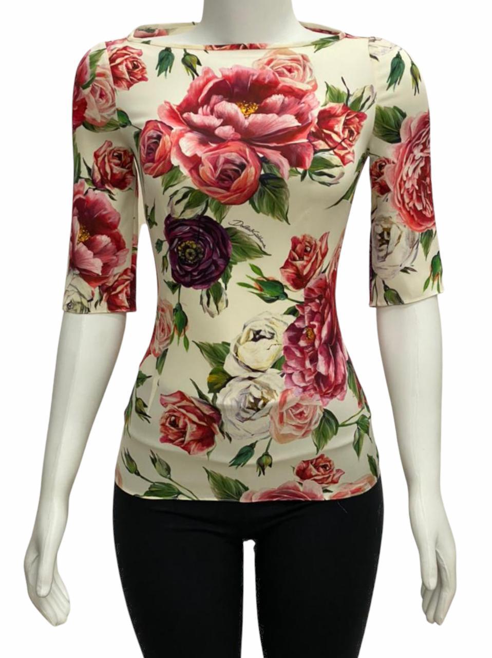 Blusa Dolce & Gabbana Floral