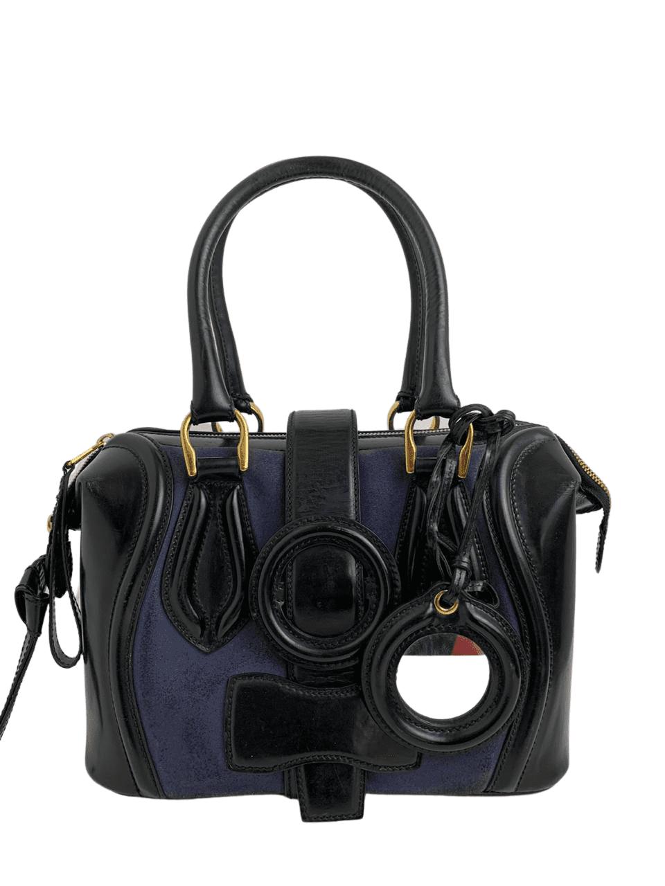 Bolsa Balenciaga Azul com Preto