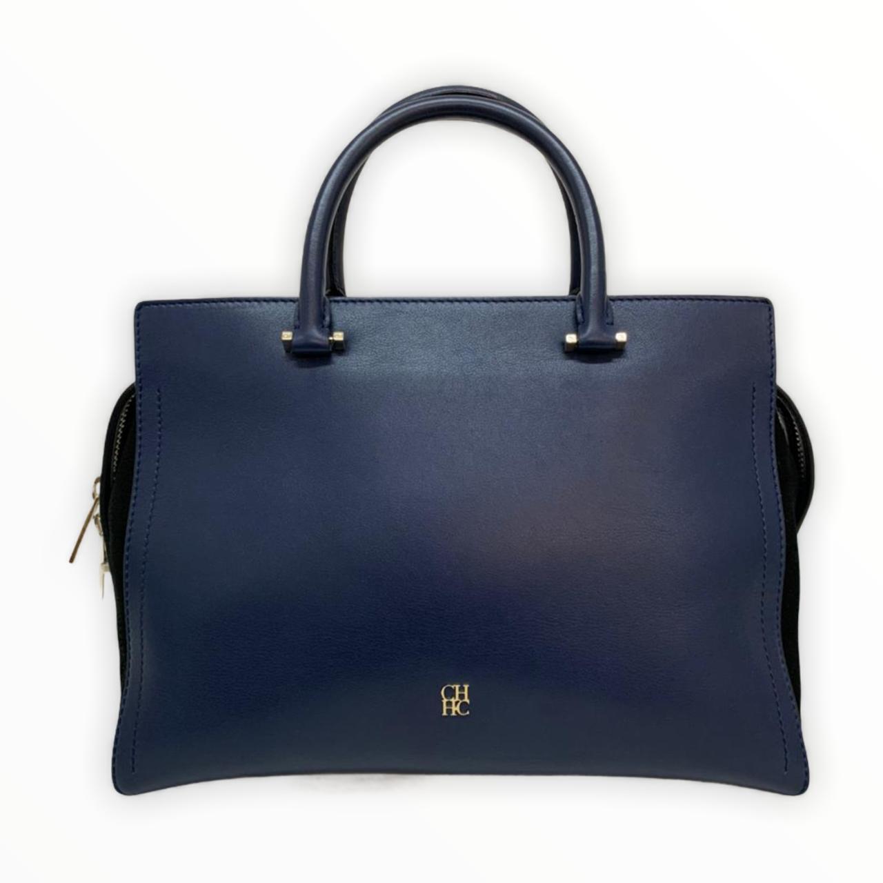 Bolsa Carolina Herrera Navy 'Osaka' Handbag