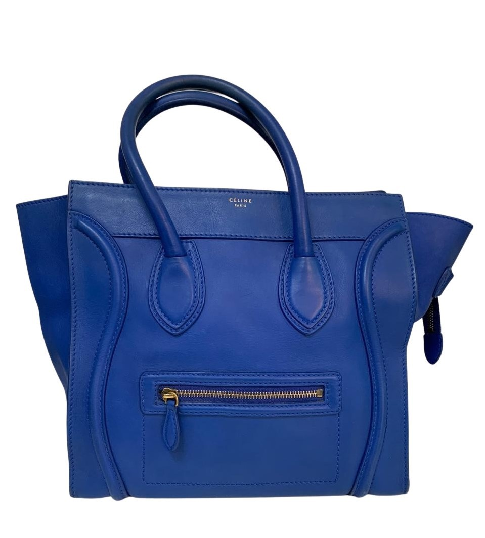 Bolsa Céline Luggage Azul
