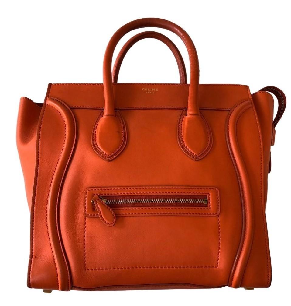 Bolsa Céline Micro Luggage Laranja