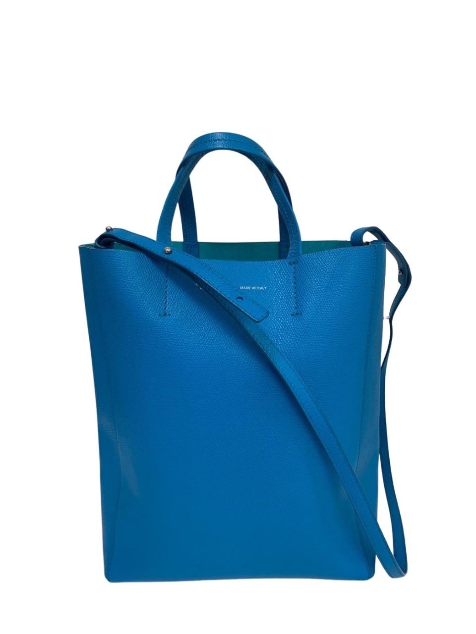 Bolsa Céline Paris Small Cabas Azul