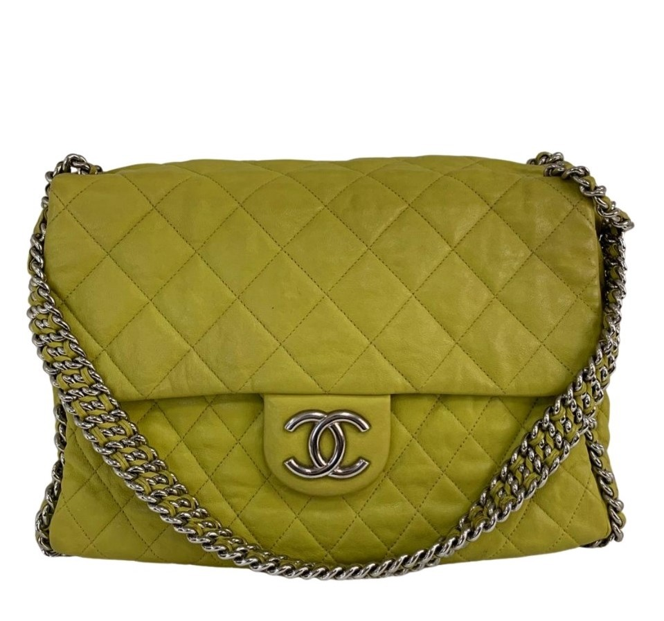 Bolsa Chanel Around Chain Amarela