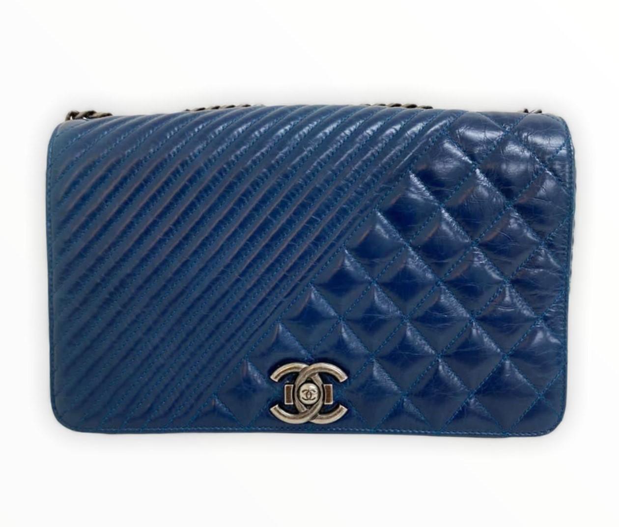 Bolsa Chanel Azul Crossbody
