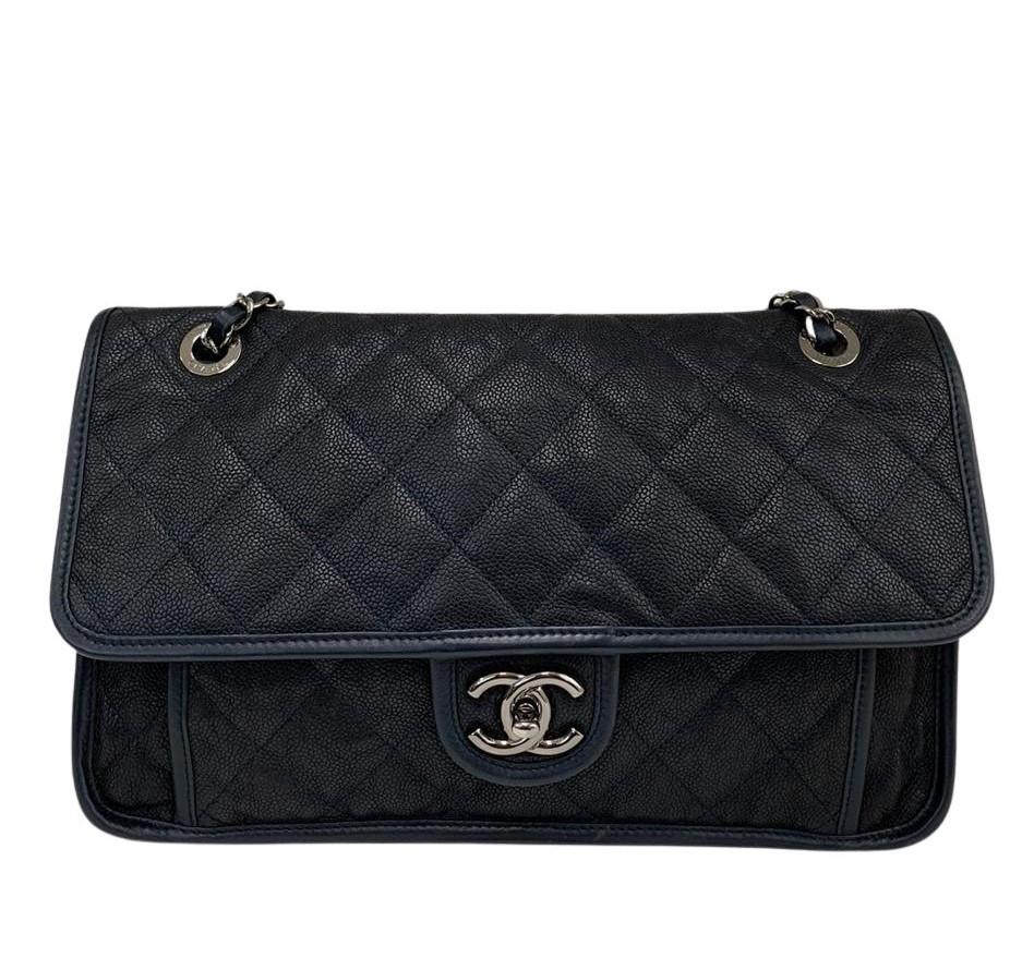 Bolsa Chanel Azul Marinho Caviar