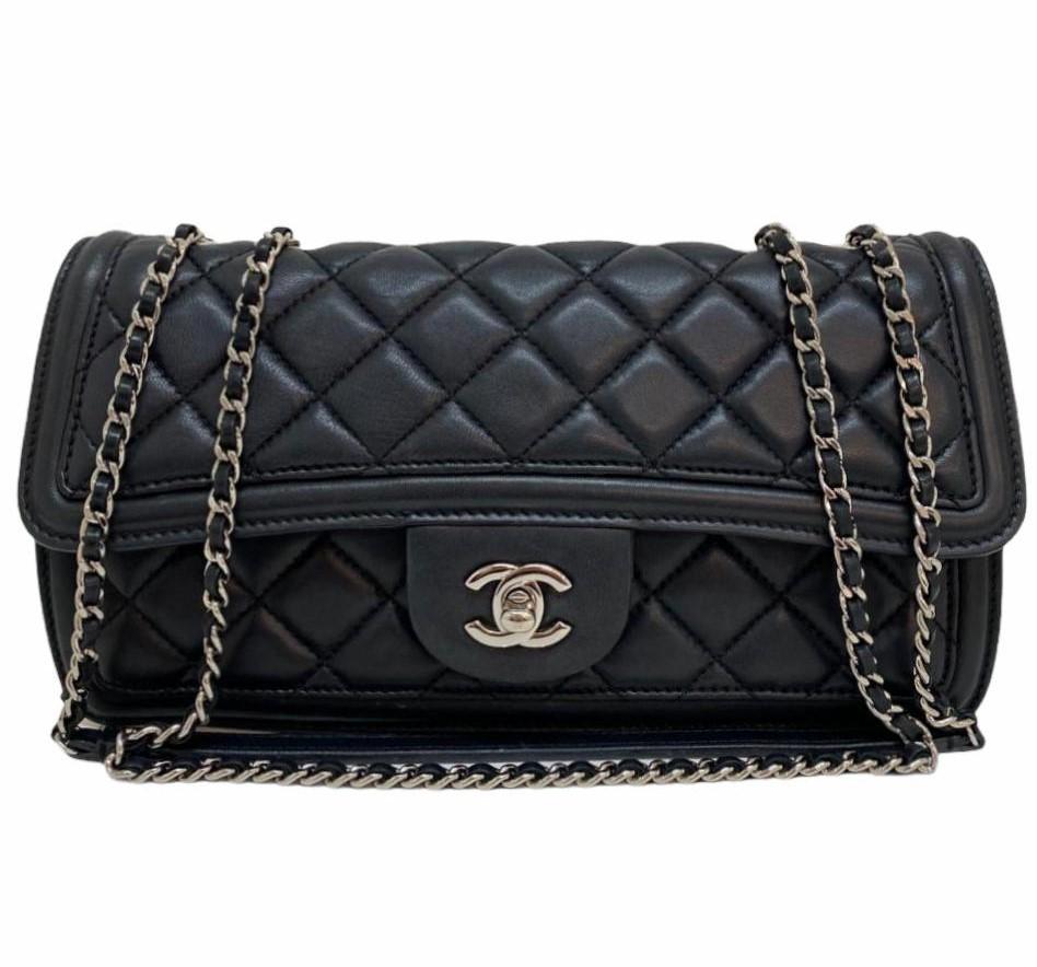 Bolsa Chanel Bicolor Lambskin Crossbody