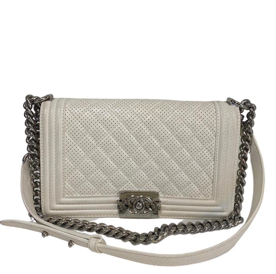 Bolsa Chanel Boy Branca