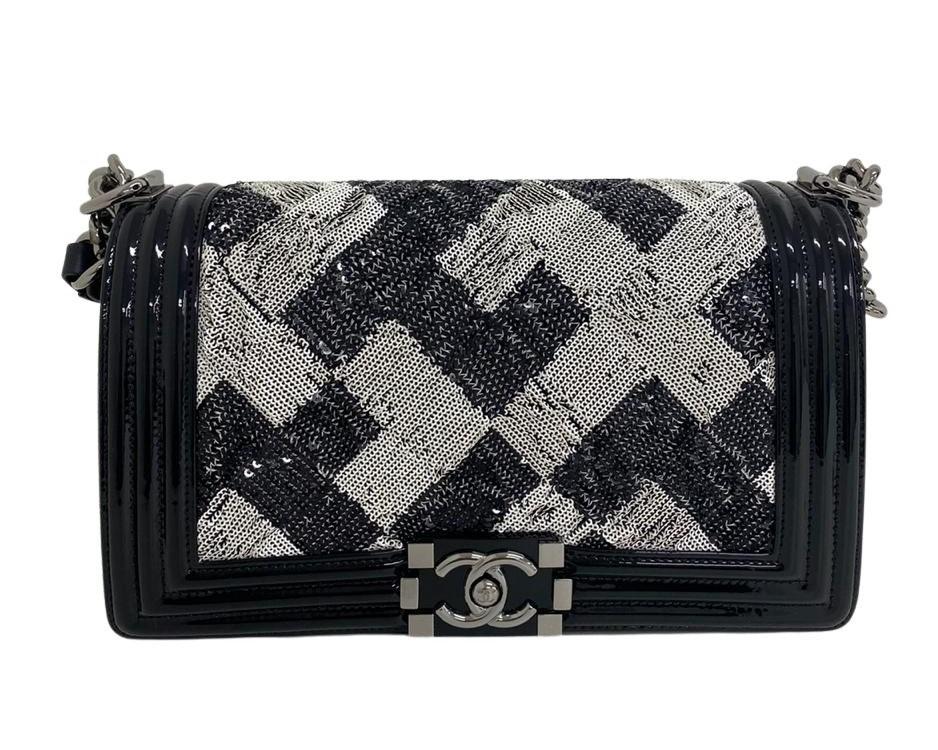 Bolsa Chanel Boy Paetê