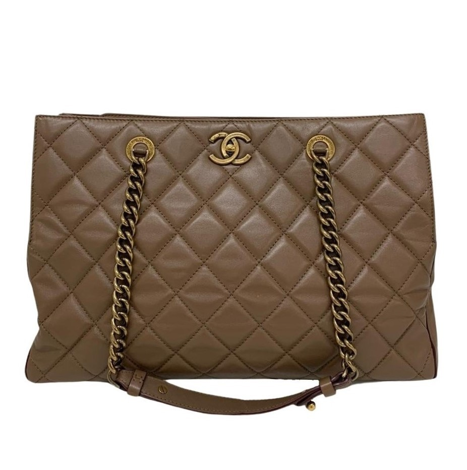 Bolsa Chanel Caramelo Shoulder Lambskin