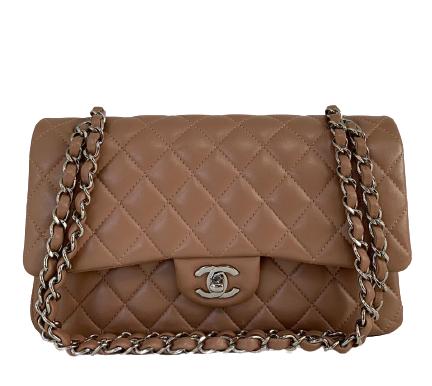 Bolsa Chanel Classic Media Couro Lambskin