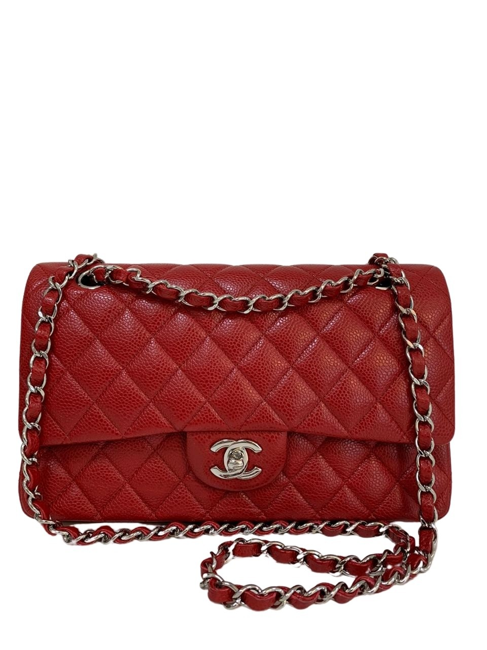 Bolsa Chanel Classic Medium Vermelha
