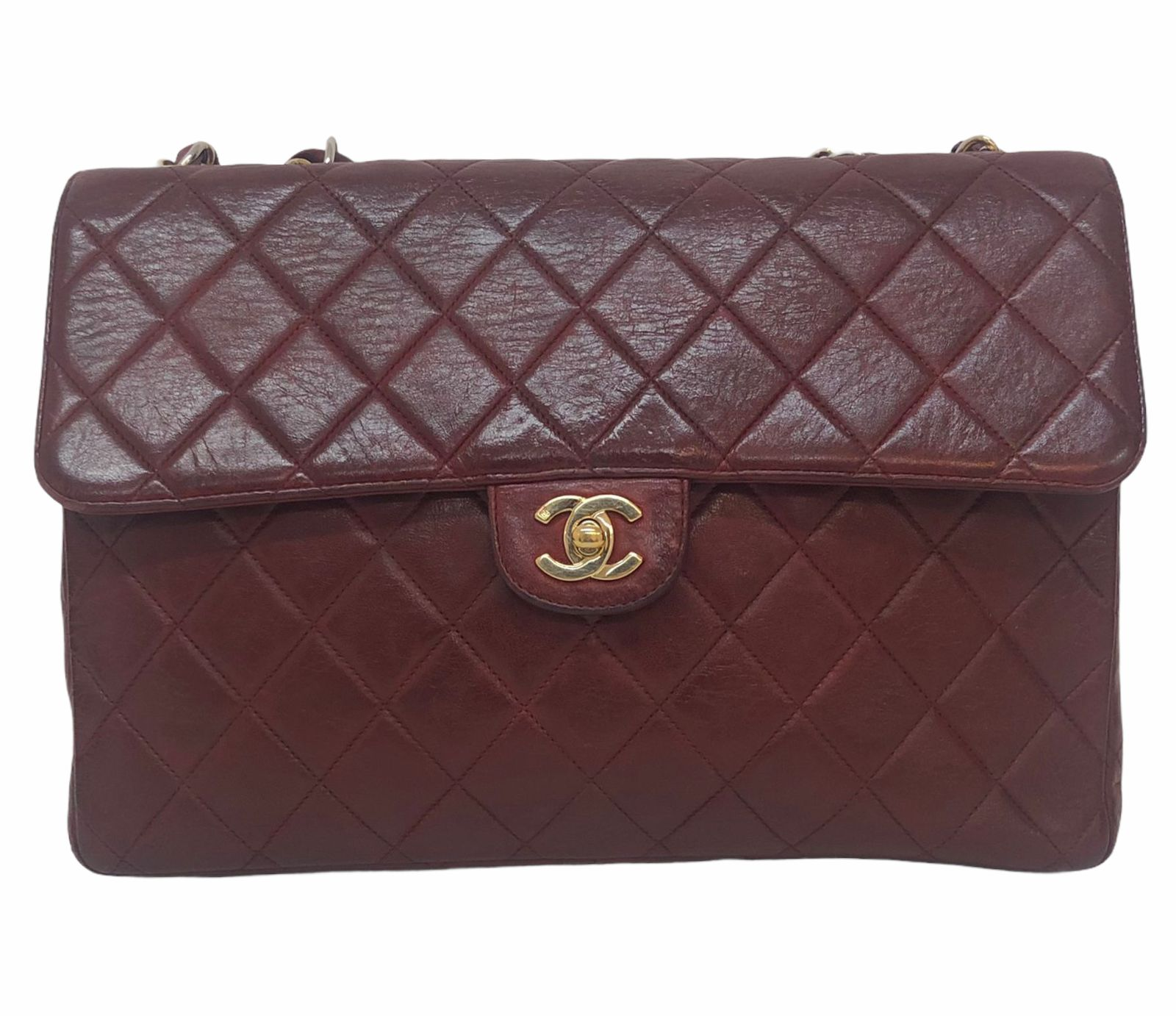 Bolsa Chanel Classic Single Flap Vinho