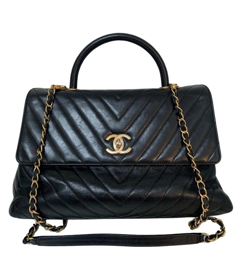 Bolsa Chanel Coco Handle Preta