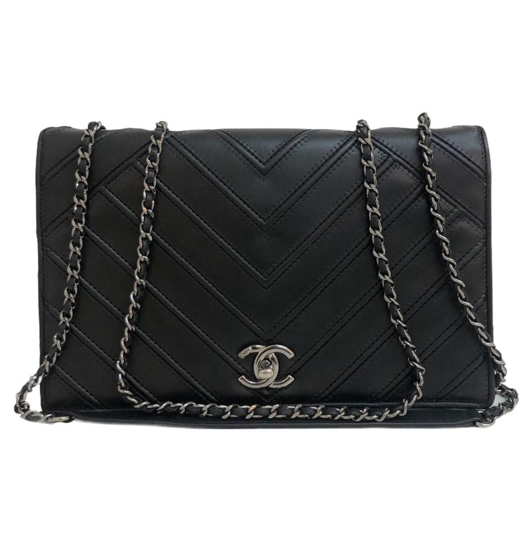 Bolsa Chanel Couture Full Flap Chevron