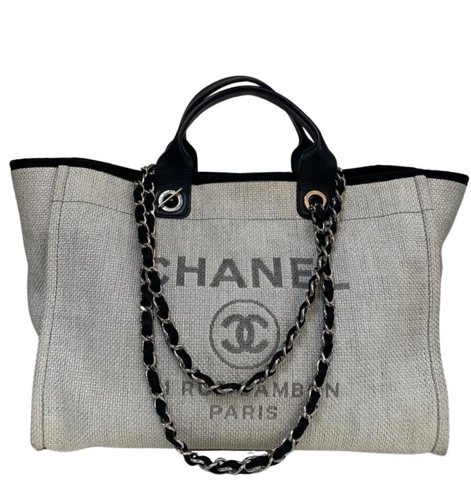 Bolsa Chanel Deauville Off-White