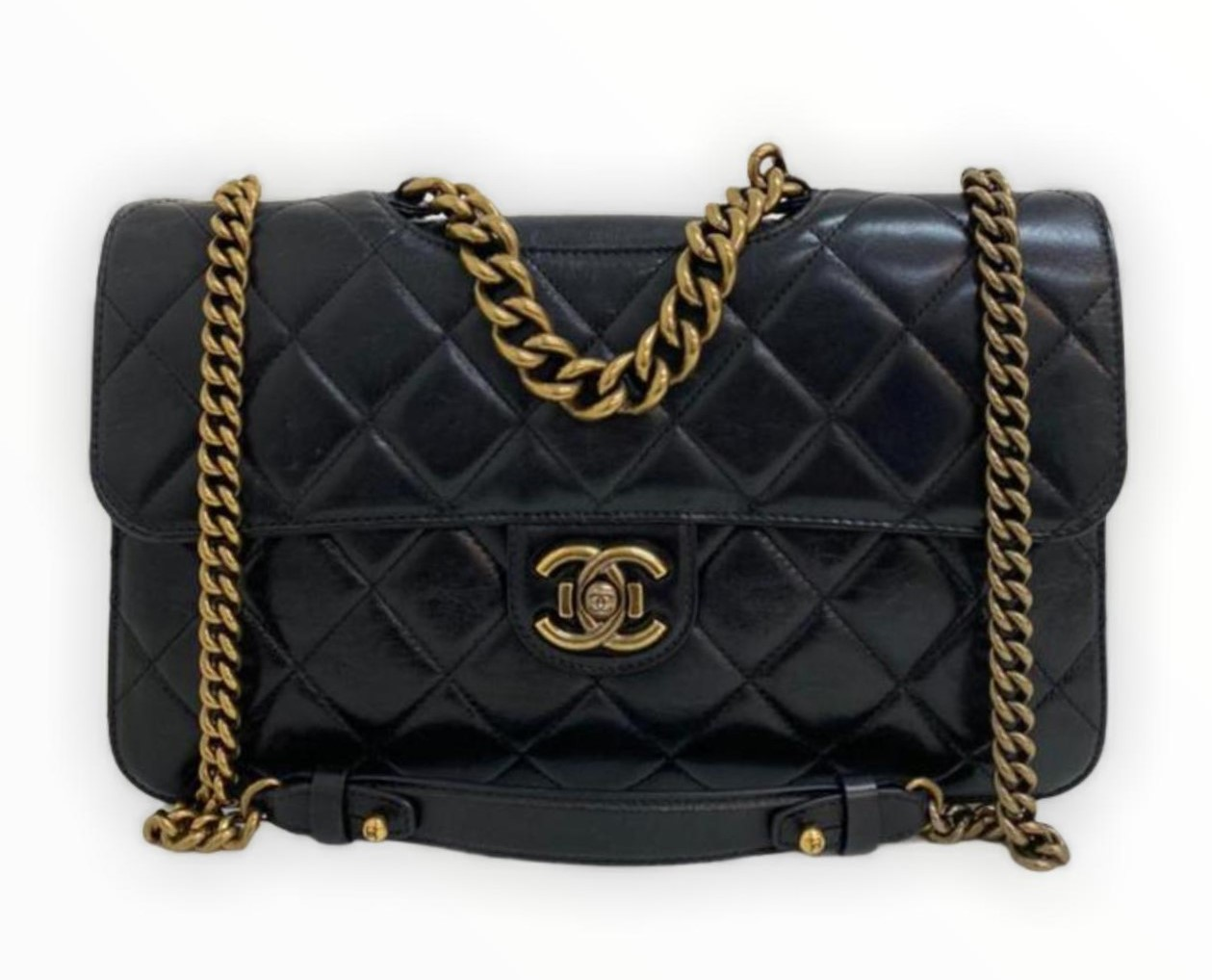 Bolsa Chanel Double Flap Preta