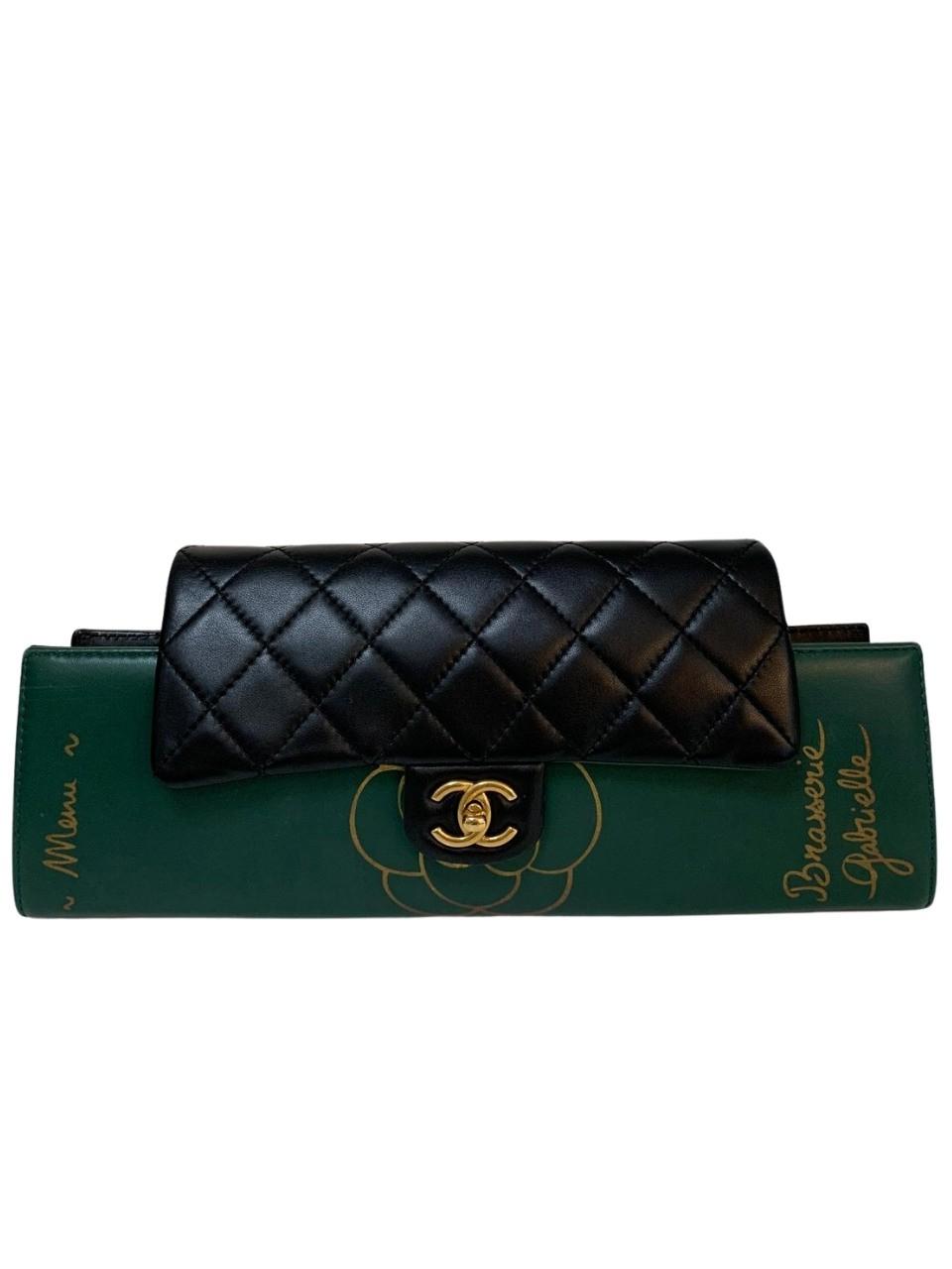 Bolsa Chanel Gabrielle Menu Verde com Preto