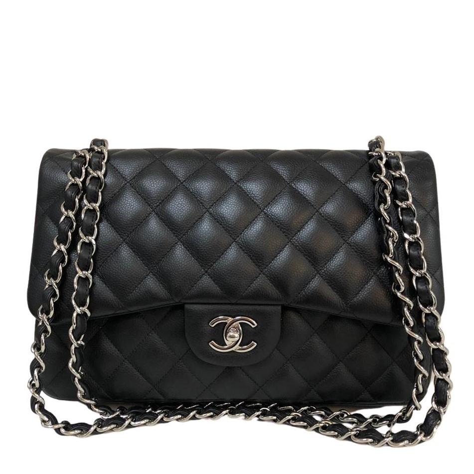 Bolsa Chanel Jumbo Caviar Preta