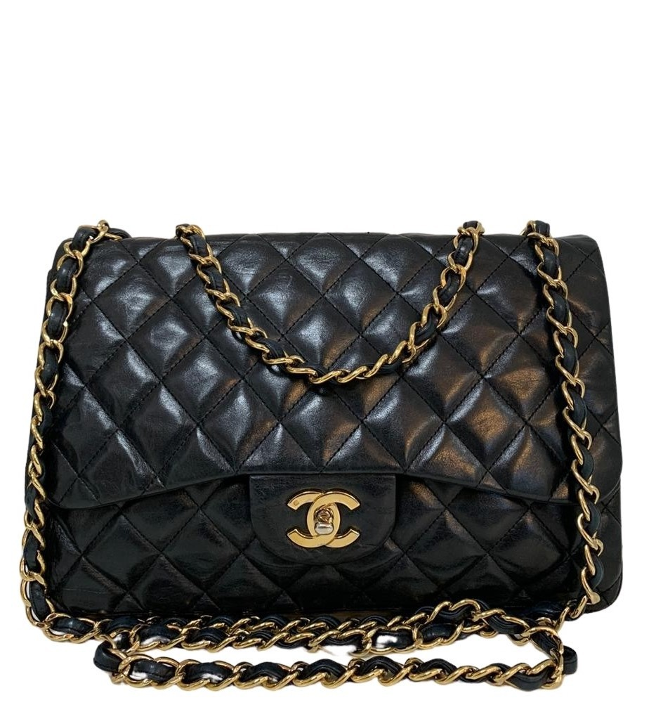 Bolsa Chanel Jumbo Couro Lambskin