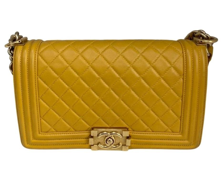 Bolsa Chanel Boy Amarela