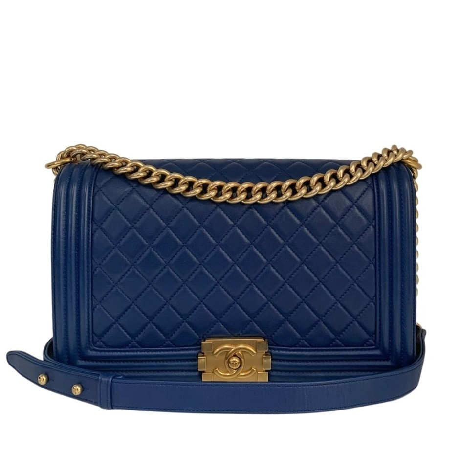 Bolsa Chanel Le Boy Azul