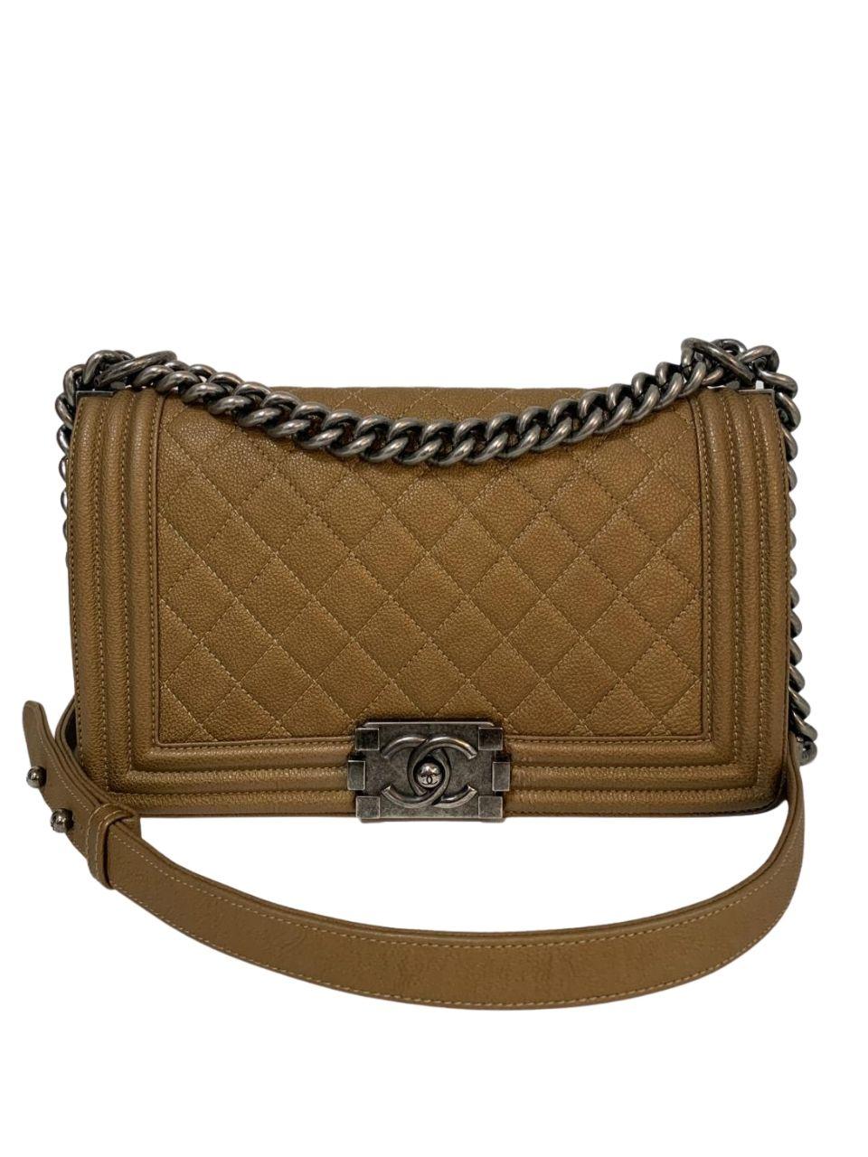 Bolsa Chanel Boy Caramelo