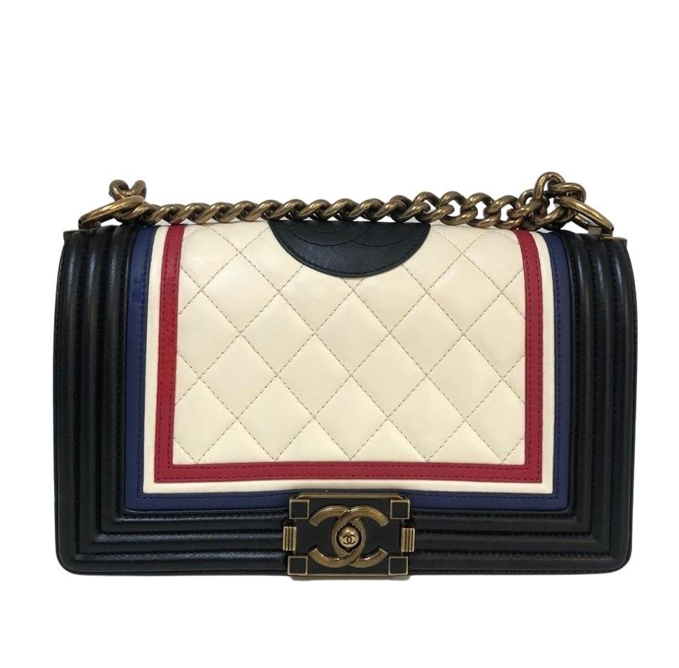 Bolsa Chanel Le Boy Tricolor