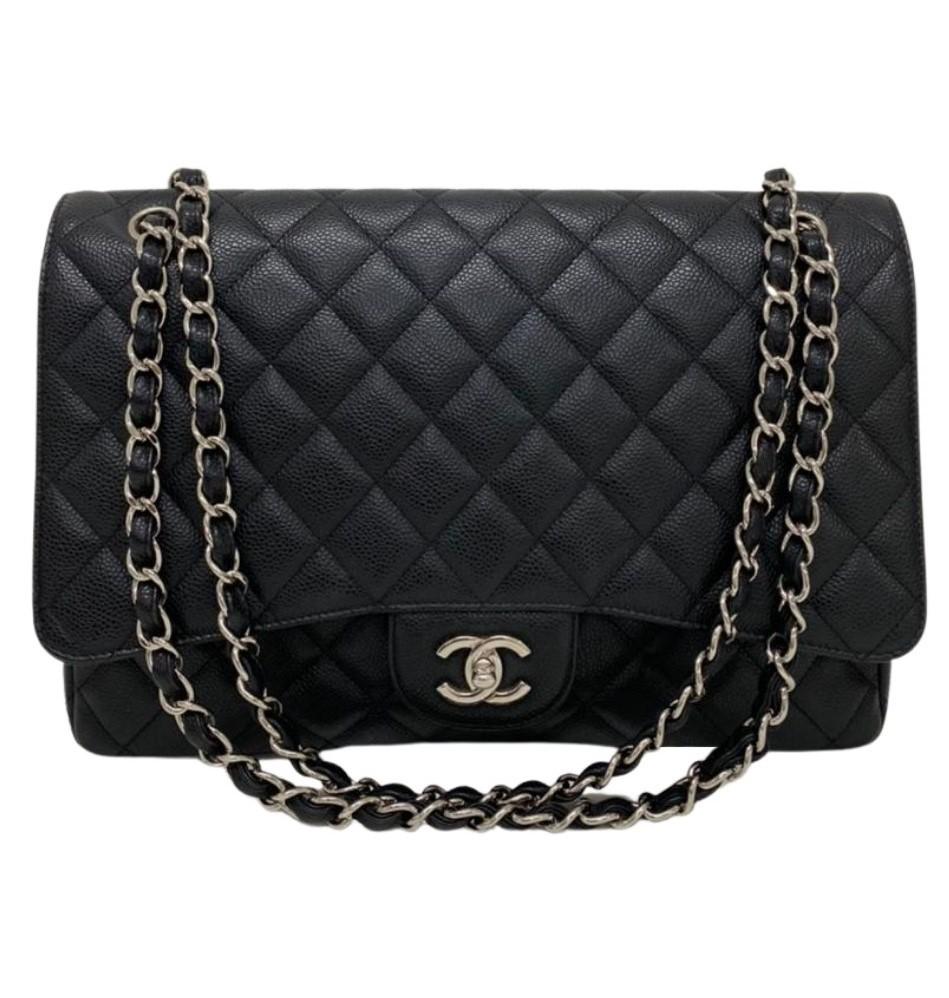 Bolsa Chanel Maxi Caviar Preta