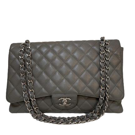 Bolsa Chanel Maxi Cinza