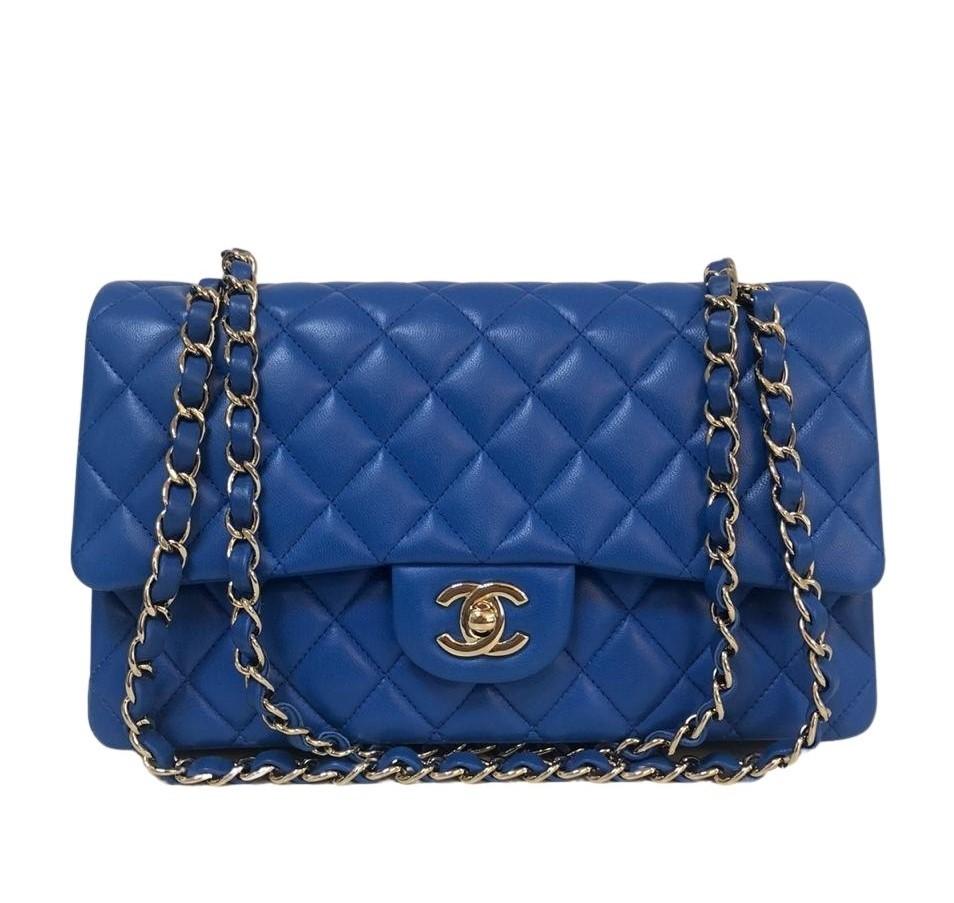 Bolsa Chanel Média Azul