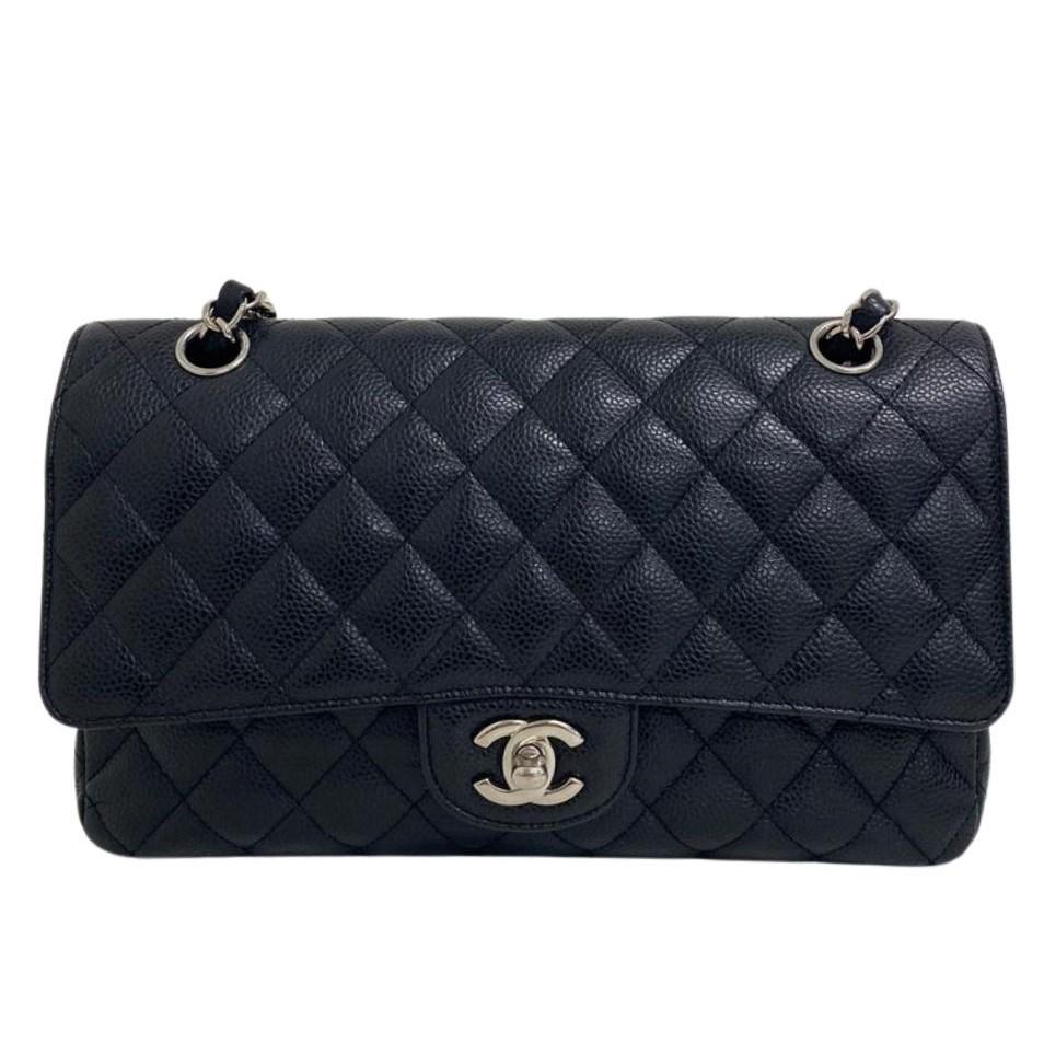 Bolsa Chanel Média Caviar Preta
