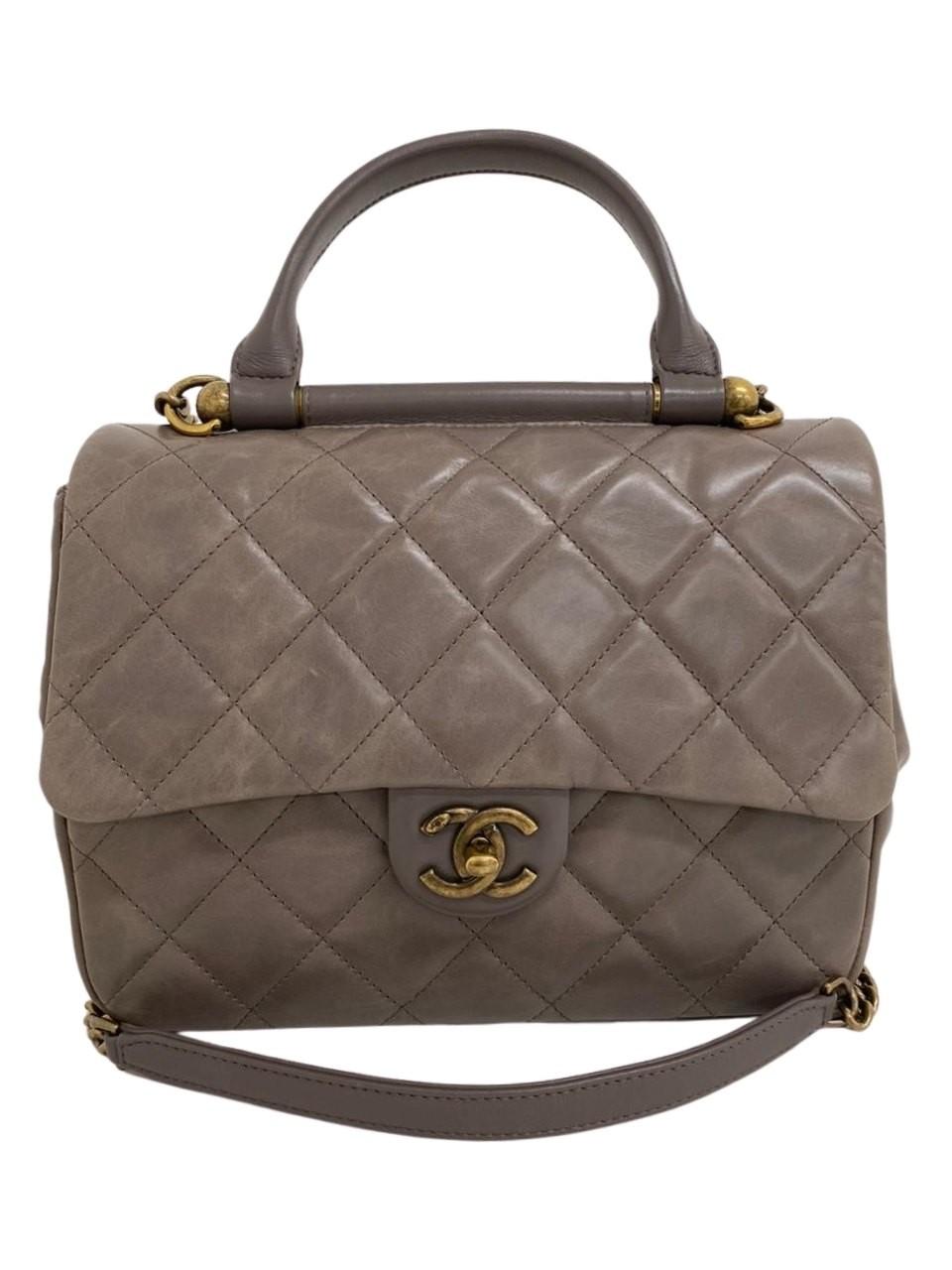 Bolsa Chanel Média Handle Lambskin