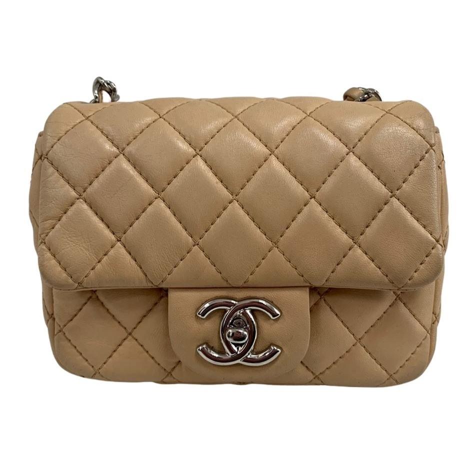 Bolsa Chanel Mini Square Bege