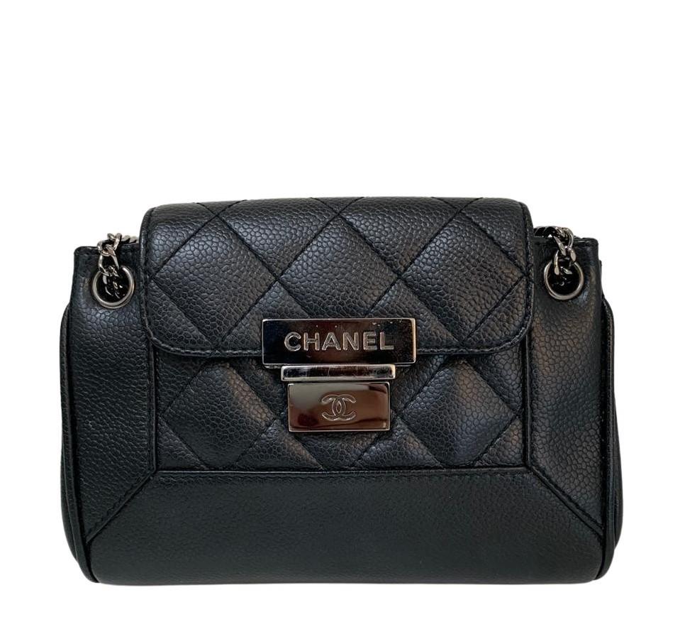 Bolsa Chanel Mini Caviar Preta