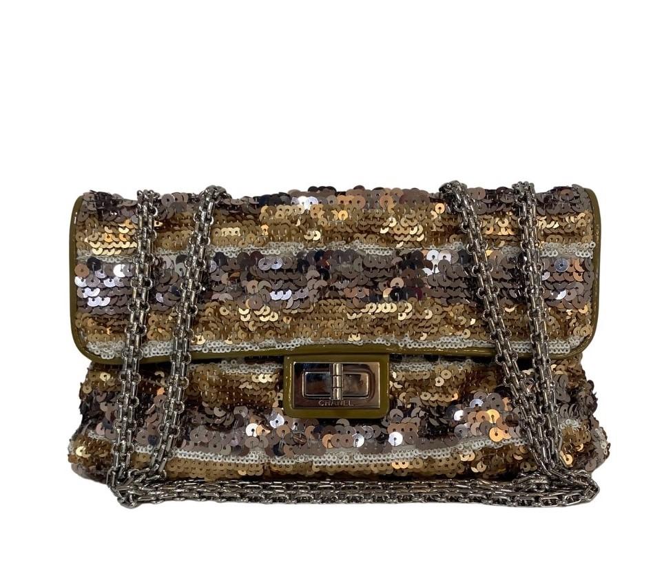 Bolsa Chanel Reissue Paetê