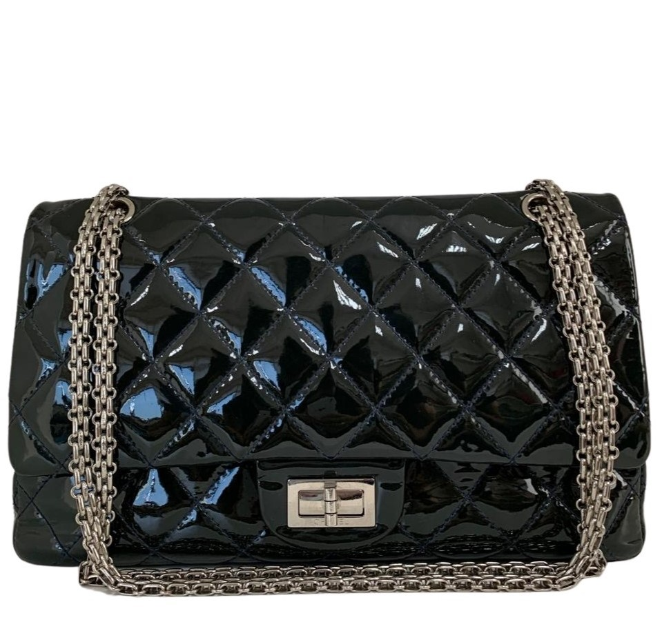 Bolsa Chanel Reissue Verniz Preta