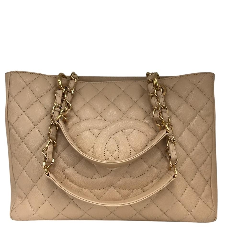 Bolsa Chanel Shopper Bege