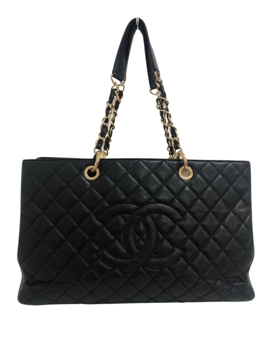 Bolsa Chanel Shopper Preta