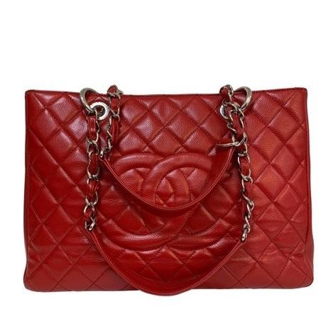 Bolsa Chanel Shopper Vermelha