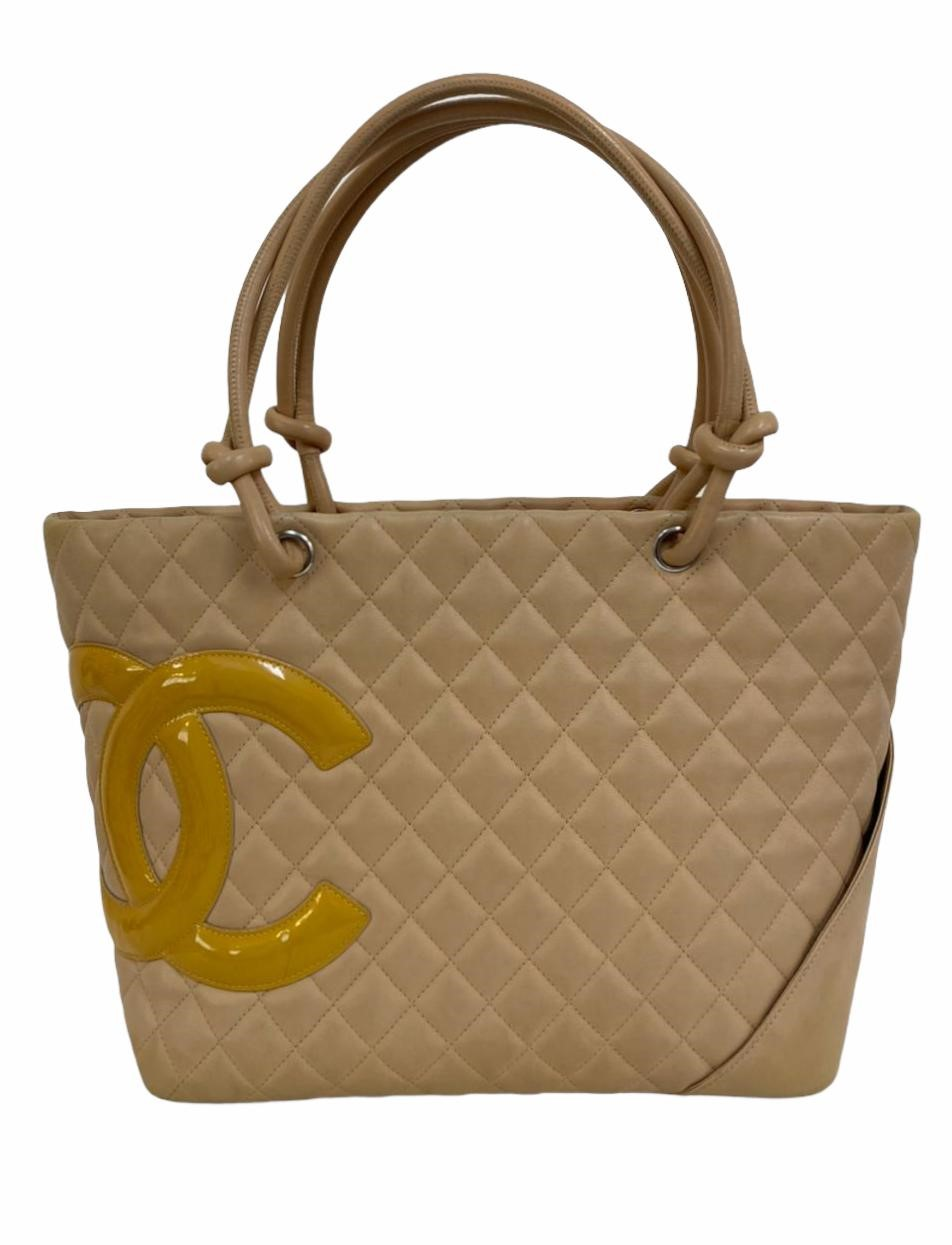 Bolsa Chanel Shopping Ligne Large Bege