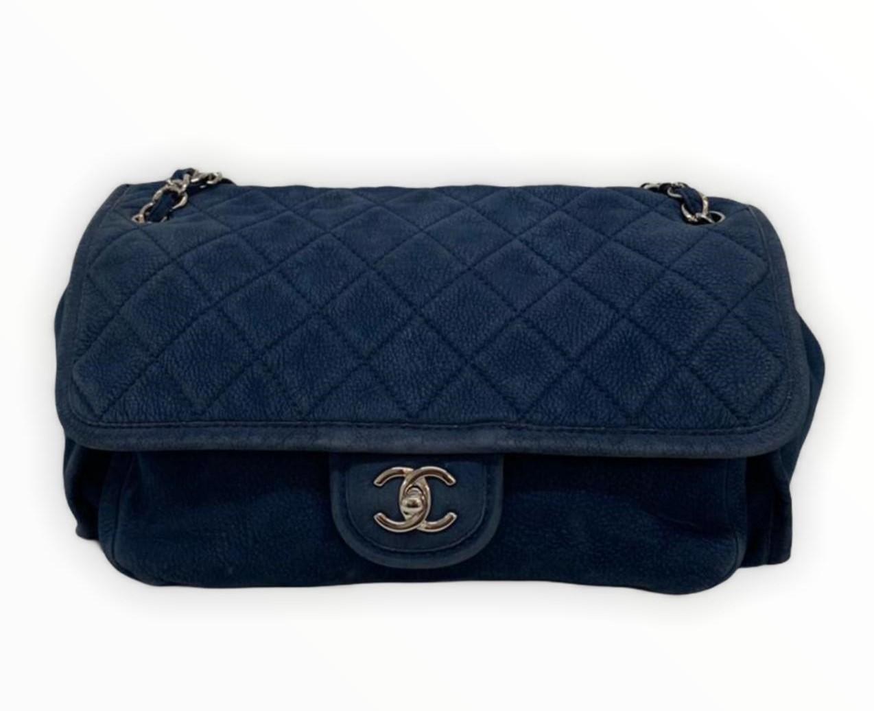Bolsa Chanel Shoulder Azul
