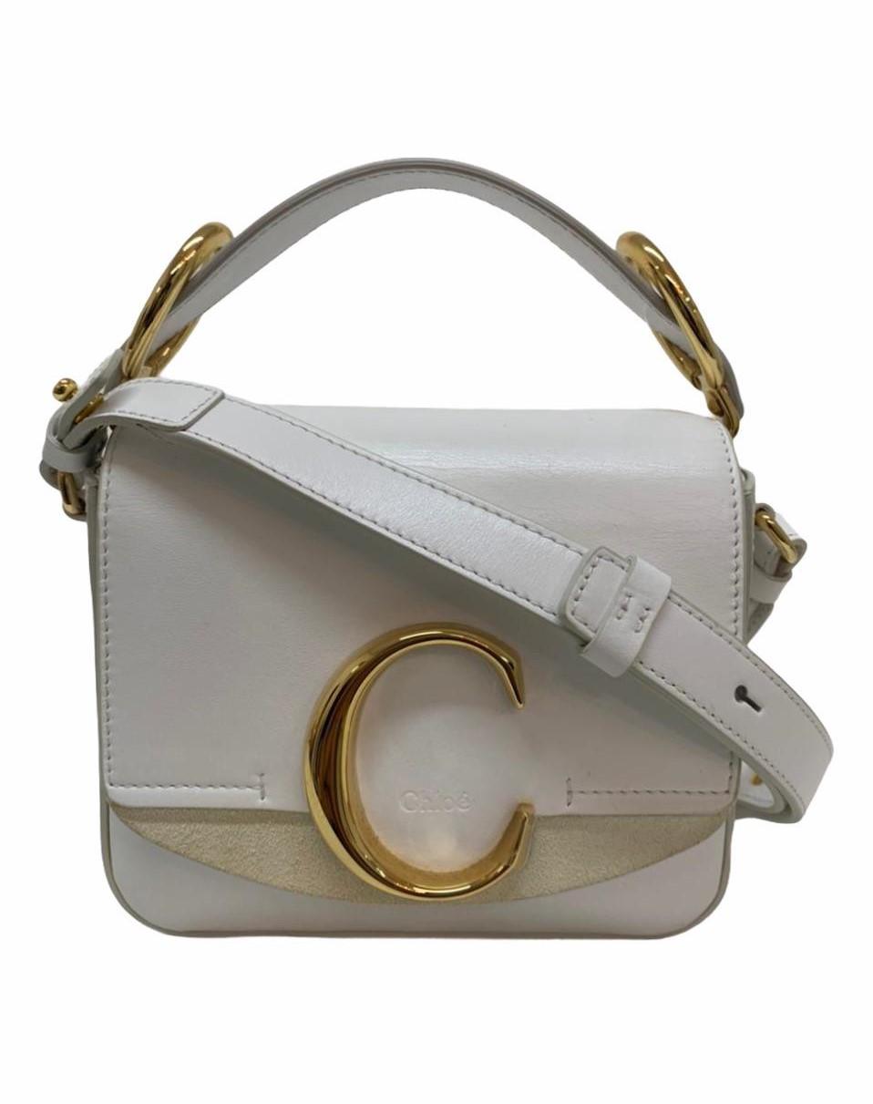Bolsa Chloé C Mini Branca